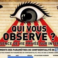 Qui nous Observe ? L'absence de vie privée on Ze web. [Infographie]