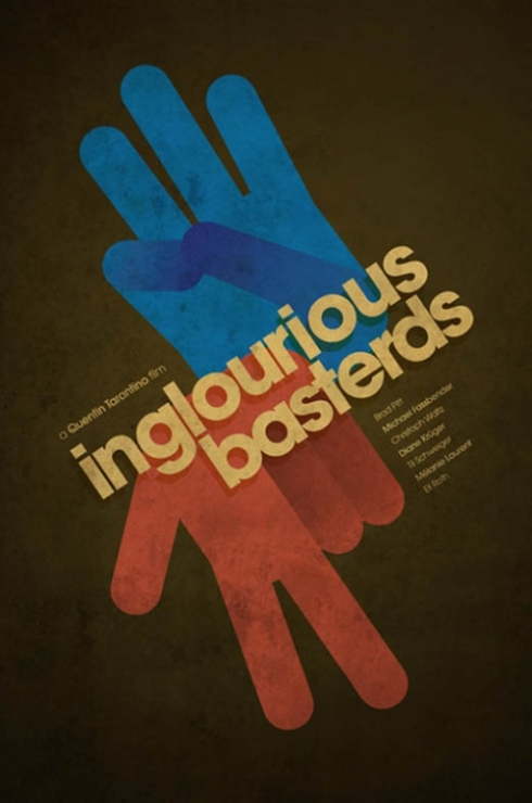affiche inglorious bastards - graphisme inspiration
