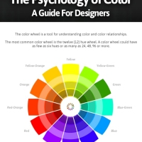 The Psychology of Color // Guide for designers // [Infographie]