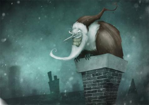 18-monster-scary-santa-claus-christmas-artworks-illustrations