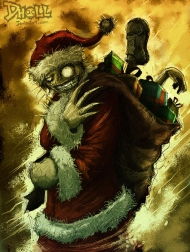 27-claws-zombie-santa-claus-christmas-artworks-illustrations