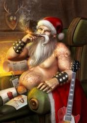 30-rocker-santa-claus-christmas-artworks-illustrations