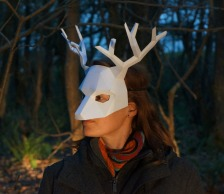 Half-Face-Reindeer-Mask